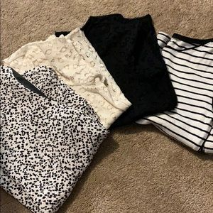 4 tops loft Ann Taylor medium petite bundle